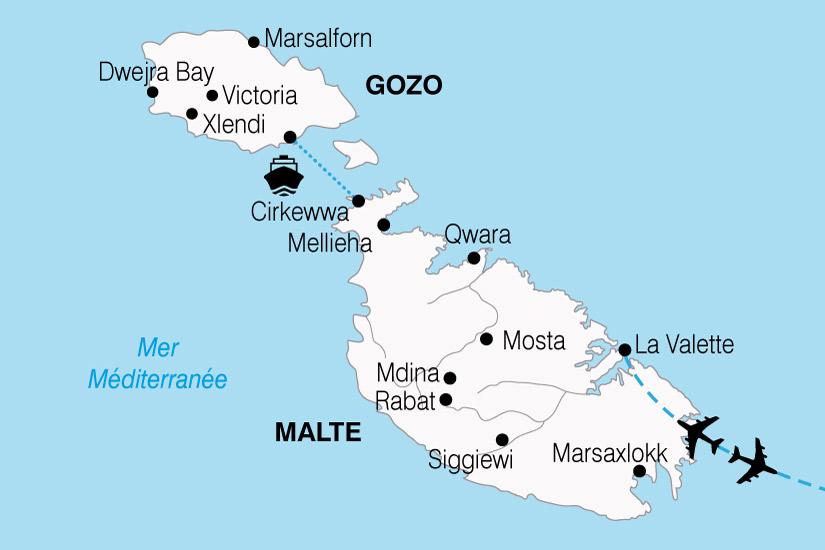 carte Malte Ile Chevaliers 727446