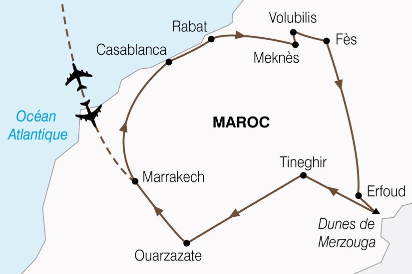 carte Maroc Cites Imperiale  Magie Sud 516982