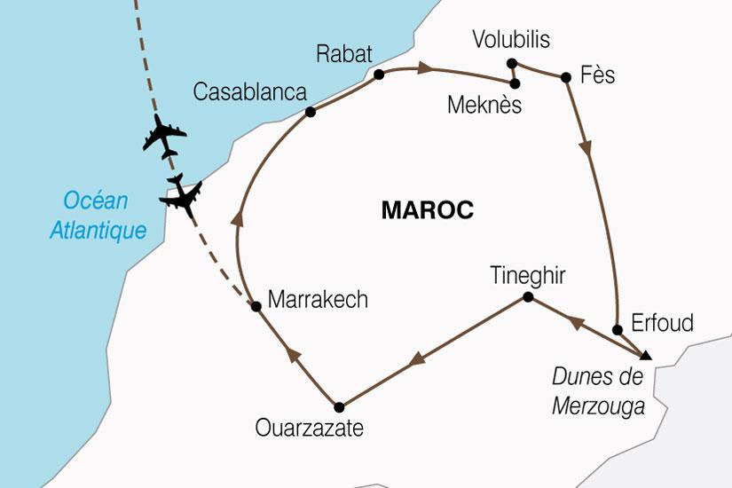carte Maroc Cites Imperiales Magie Sud 620722