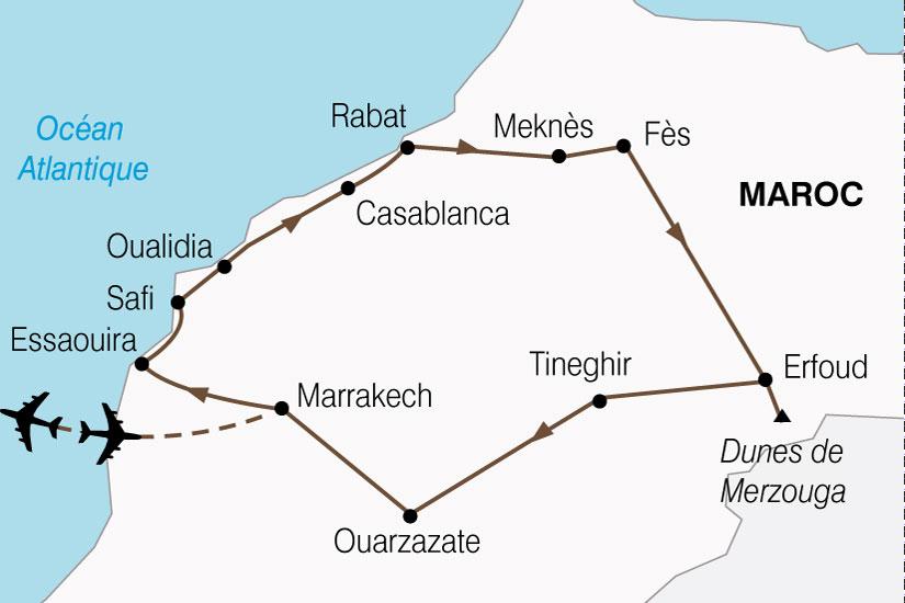 carte Maroc Splendeurs Marocaines 639770