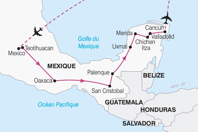 carte Mexique Merveilles Mexicaines 2019_292 115812