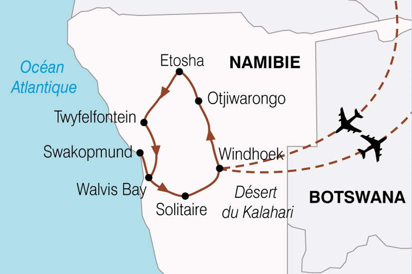 carte Namibie Aventure Nambienne 146886