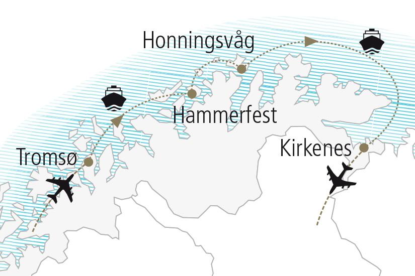 carte Norvege Au Pays des Aurores Boreales Nordiska 19 20_307 628235