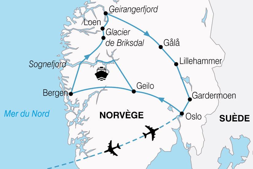 carte Norvege Plus Beaux Fjords 375267