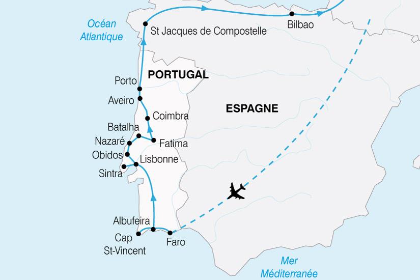 carte Portugal Grand Tour 250254