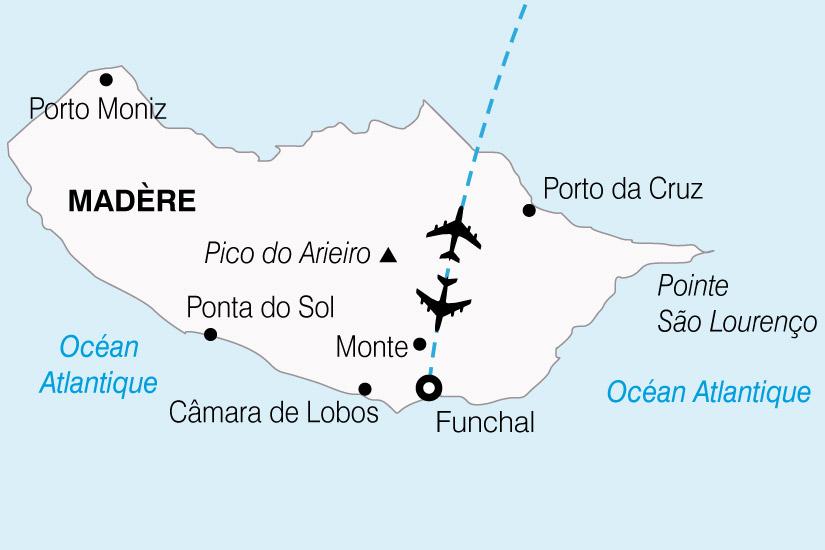 carte Portugal Madere Fleurs 476385