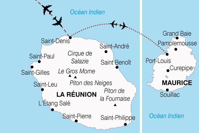 carte Reunion Maurice Charme Ocean Indien 310129