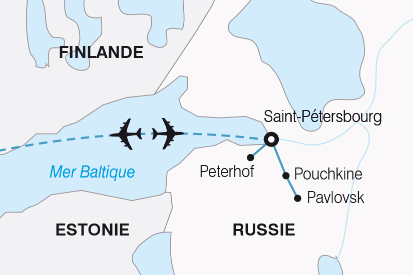 carte Russie Majestueuse Saint Petersbourg SH19 20_319 453682