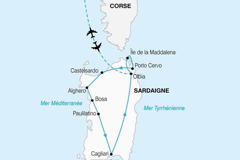 carte Sardaigne Grand Tour 304935