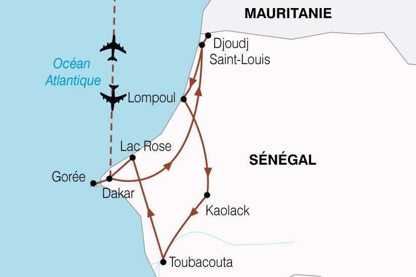 carte Senegal Couleurs Tropicales 742134