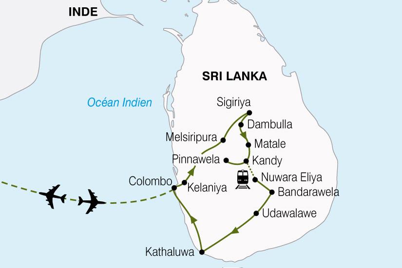 carte Sri Lanka Ile Aux Joyaux 466392