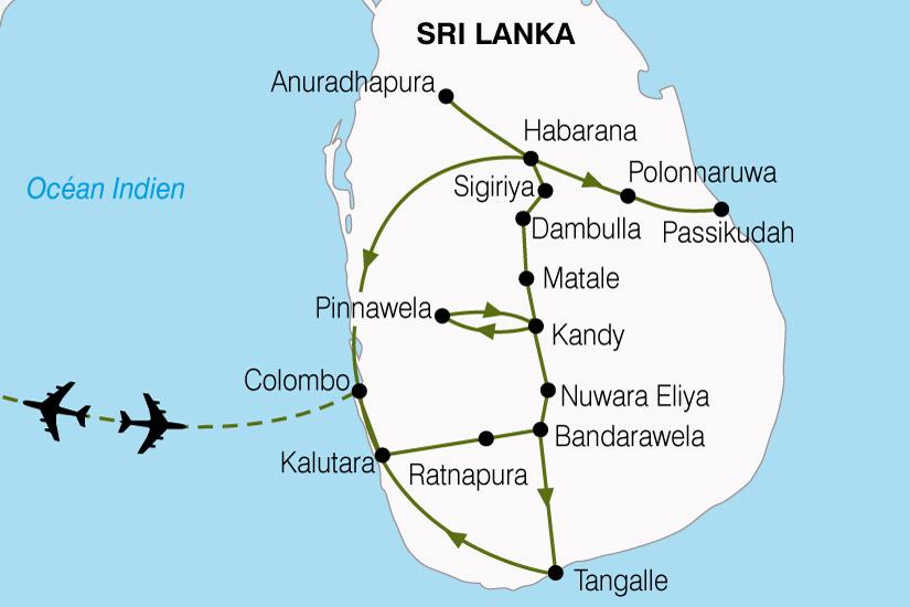carte Sri Lanka Pays De LOr Vert 862098