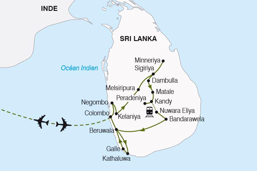 carte Sri Lanka l ile aux joyaux SH19 20_319 293423