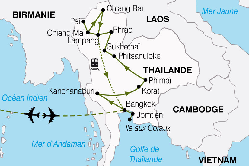 carte Thailande Pays Qui Sourit 178498
