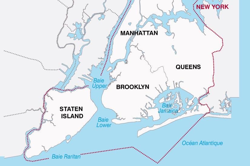 carte USA New York 137573