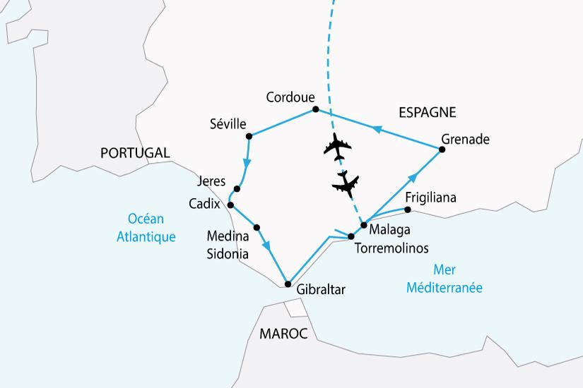 carte espagne splendeurs andalouses sh 2018_236 454135