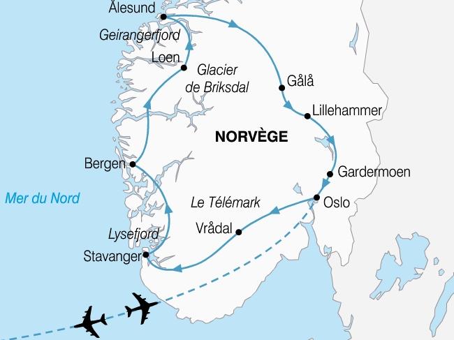 carte norvege grand tour fjords 710615