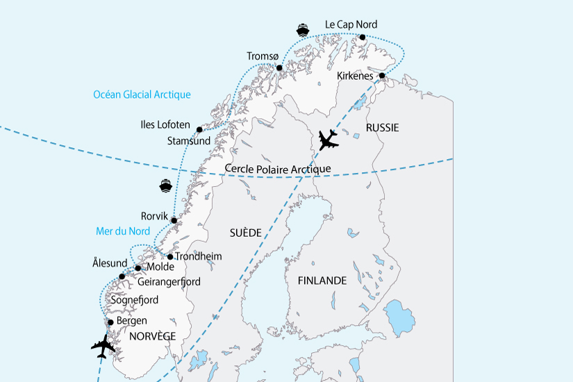 carte norvege les plus beau littoral sh 2018_236 343325