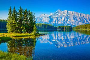 canada parc national banff lac two jack  it