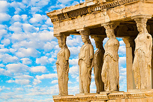 grece athenes caryatids erechteion acropole  it