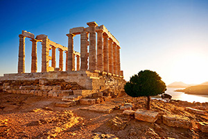 grece sounion temple poseidon  it