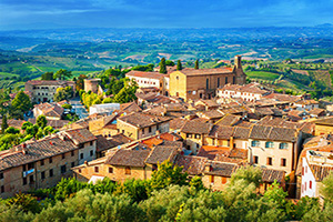 italie toscane san gimignano  fo