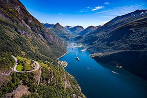 norvege geiranger fjord  fo