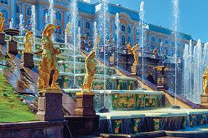 russie saint petersbourg palais peterhof fontaines  fo