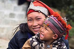 vietnam sapa heureuse femme enfant  it