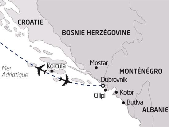 carte croatie sejour decouverte a dubrovnik 886883