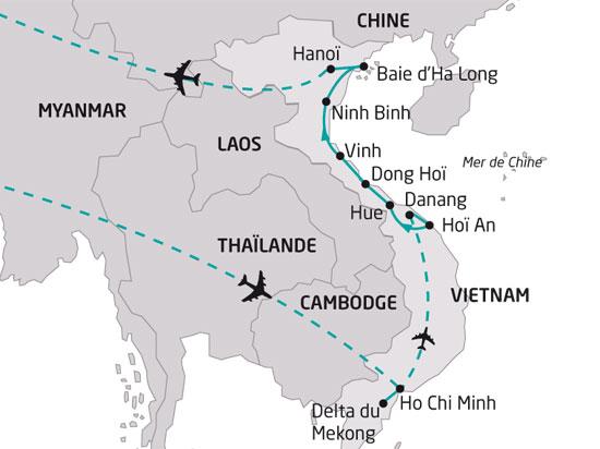 Circuit vietnam escapade vietnamienne 12 jours bt tours for Vol interieur vietnam